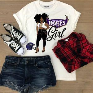 Tops - Custom Nfl Ravens T-shirt